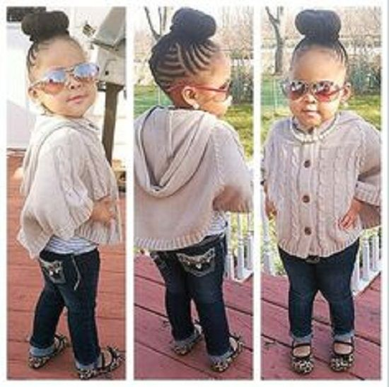 Pleasing 1000 Images About Black Little Girl Hairstyles On Pinterest Hairstyles For Women Draintrainus