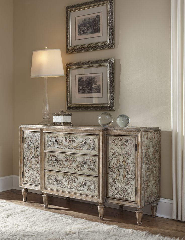accentrics home by pulaski furniture console