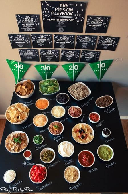 Nacho Bar With Free Printable Combinations