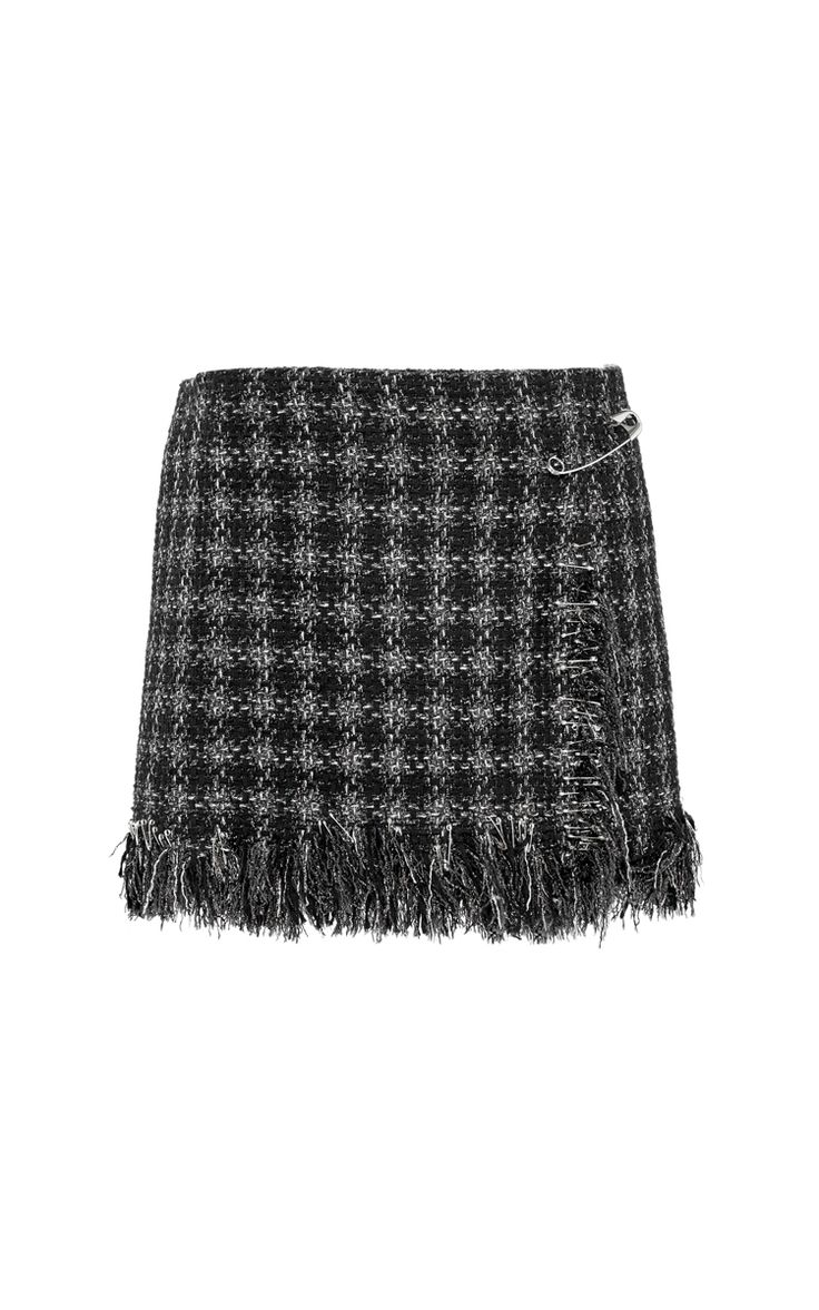 Lame Tweed Wrap Micro Skirt by Sonia Rykiel for Preorder on Moda Operandi