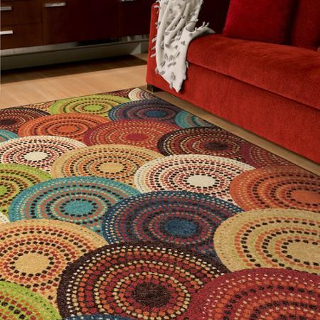 Better Homes And Gardens Bright Dotted Circles Area Rug