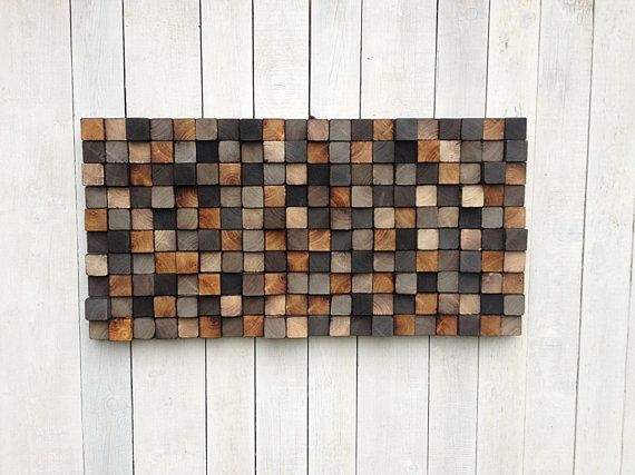 Could be cool for the living room  IN STOCK Wooden Wall Art by WallWooden on Etsy