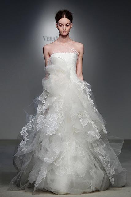 Unique Wedding dress from Vera Wang Bridal