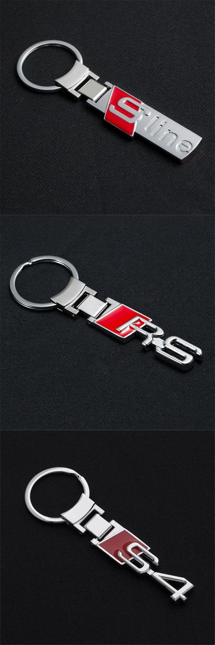 Fashion S line metal car logo key ring chain keychain keyring for audi A3 A4 A6L Q3 Q5 Q7 S3 S6 RS4 chaveiro llavero key holder