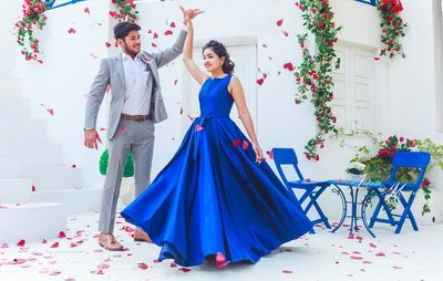 pre wedding photoshoot, pre wedding photo shoot idea, theme photoshoot, pre wedding shoot theme, blue gown, blue dress, couple dancing portrait