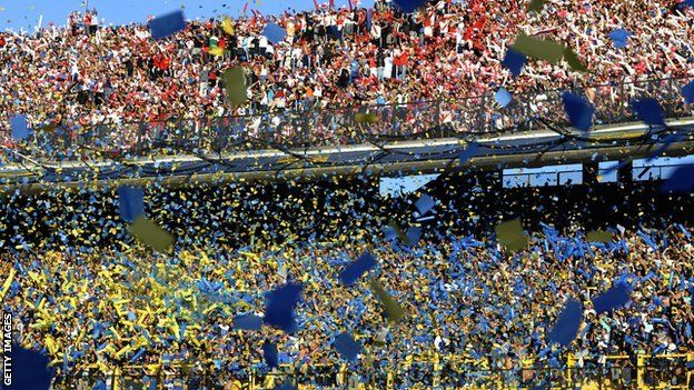 BocaJuniors and River Plate fans