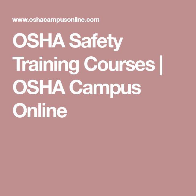 Best  Osha Safety Training Ideas On   Workplace