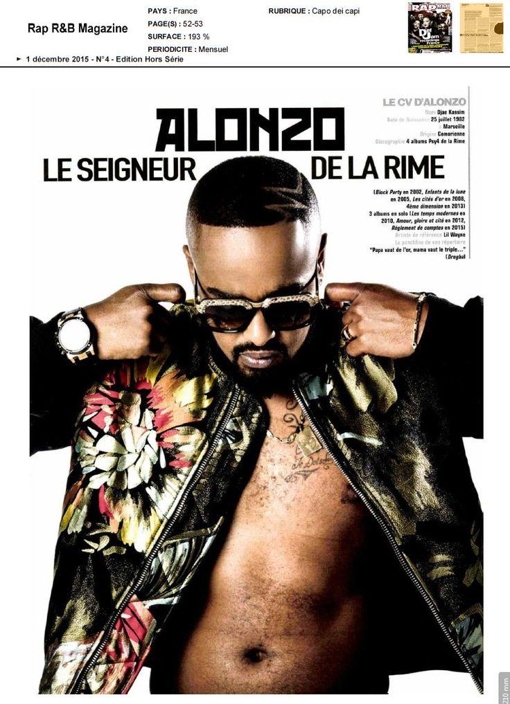 Alonzo dans Rap R&B Magazine le 1 décembre 2015 Page 2