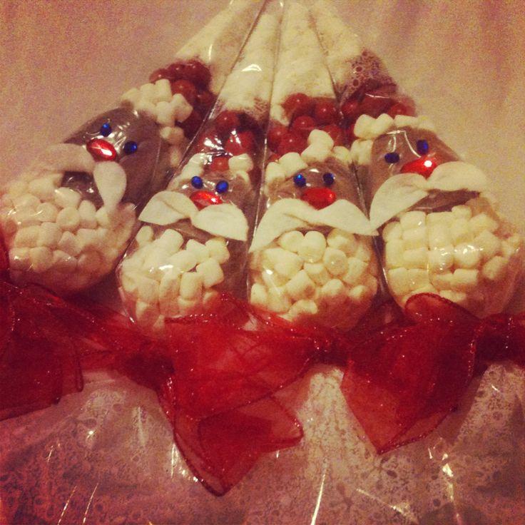 My Santa hot choc cones