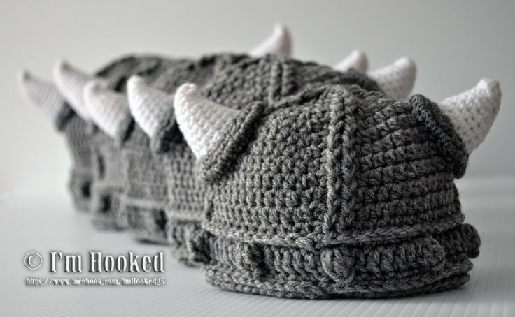 Free Pattern Crochet Viking Hat : Crochet Viking Hat Hats, Tams, Berets, Caps, Headwear ...