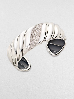 David Yurman Diamond & Sterling Silver Bracelet
