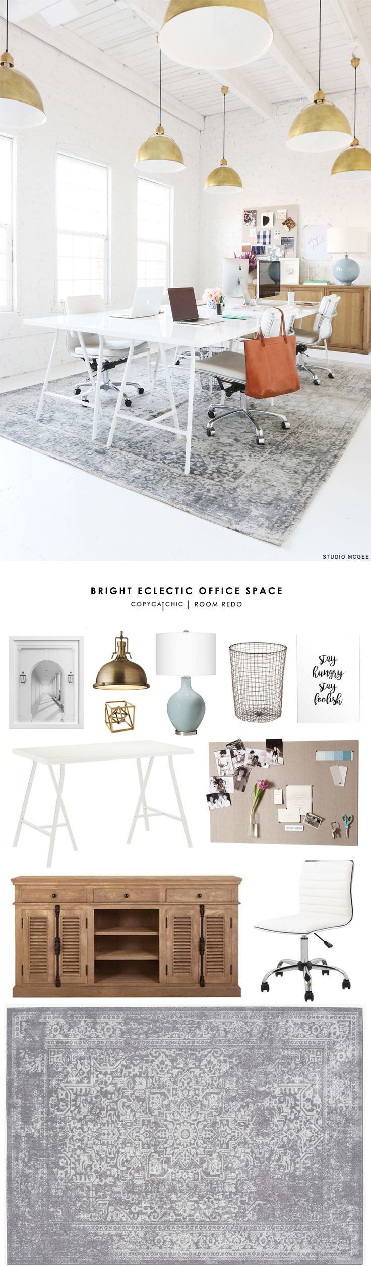 Copy Cat Chic Room Redo | Bright Eclectic Office Space