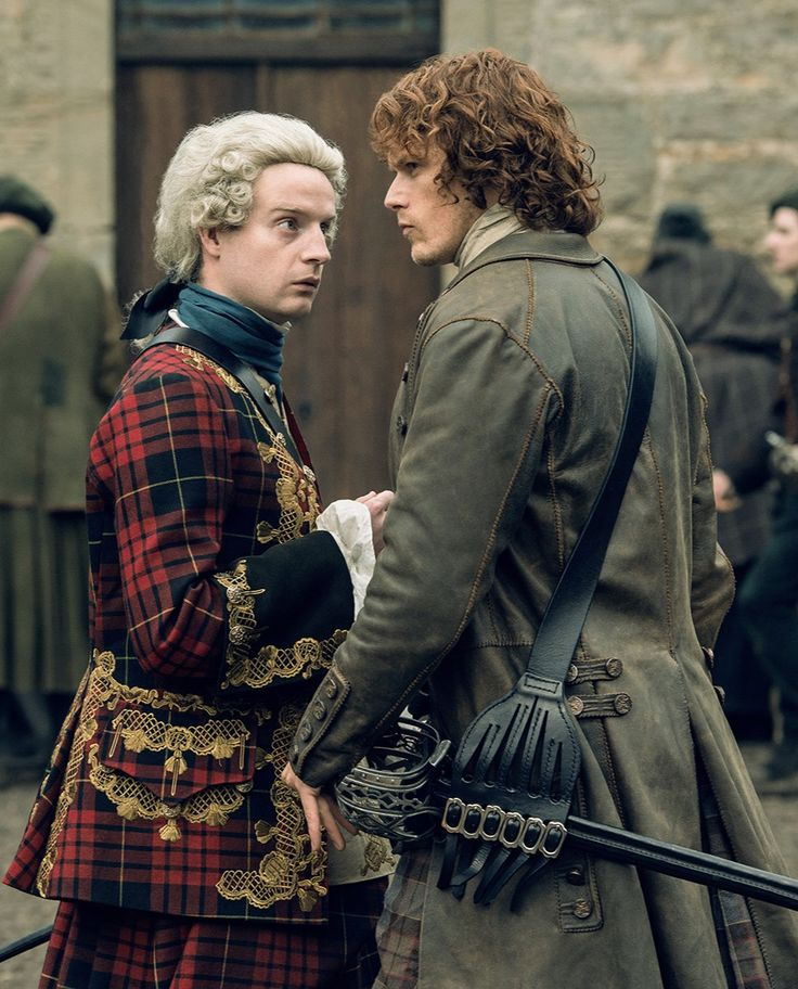 "Bonnie Prince Charly to Jamie Fraser ""You are my Thomas..."" ~ Outlander Season 2 x13 Dragonfly in Amber Andrew Gower and Sam Heughan"