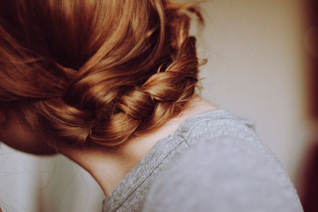 wedding hair, braid