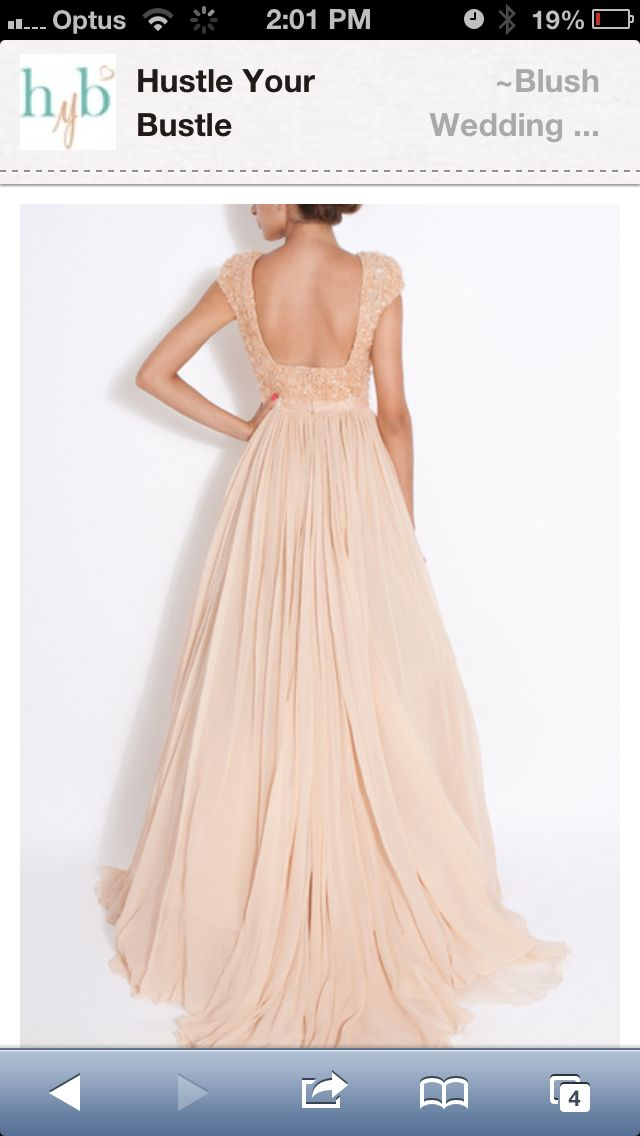 Blush wedding dress ...looks more beige in this picture (to me, haha), but it's still pretty :)