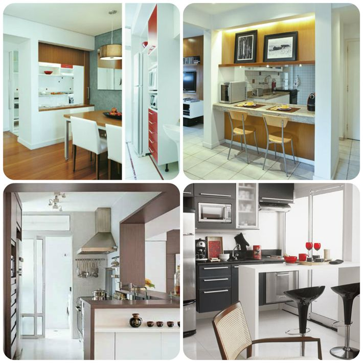 18 mejores im genes de decora o cozinha en pinterest for Cocinas para apartamentos pequenos