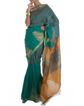 Green Saree by SCS