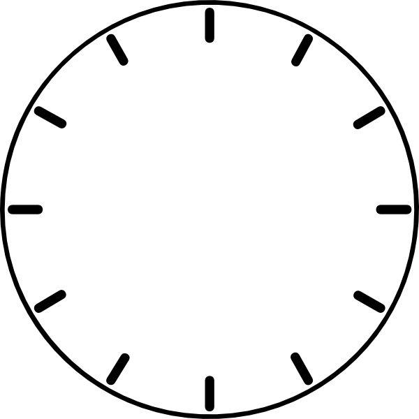 Clock Face (no Hands) clip art - vector clip art online, royalty