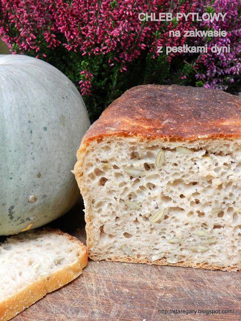 Stare Gary: Chleb pytlowy na zakwasie z pestkami dyni - paździ...