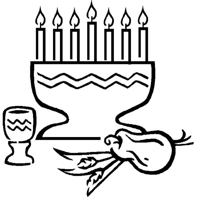 happy kwanzaa coloring page