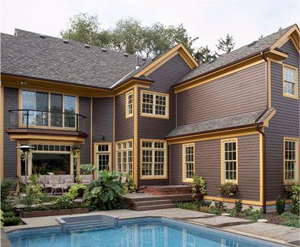 Dark brown vinyl siding wood cedar siding contractor for House siding colors ideas