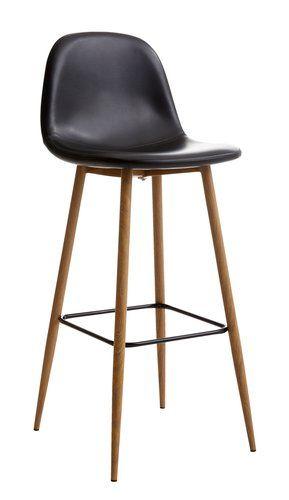 Barová stolička JONSTRUP čierna/dub | JYSK