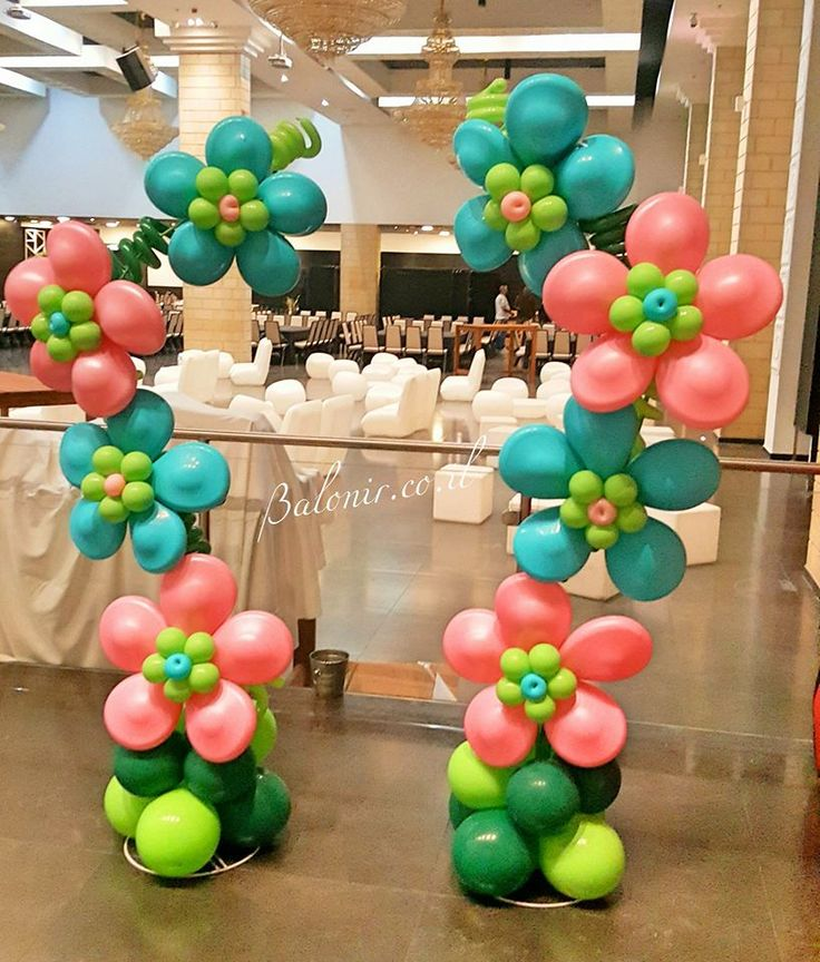 6209 best images about globos balloons on pinterest for Balloon column decoration