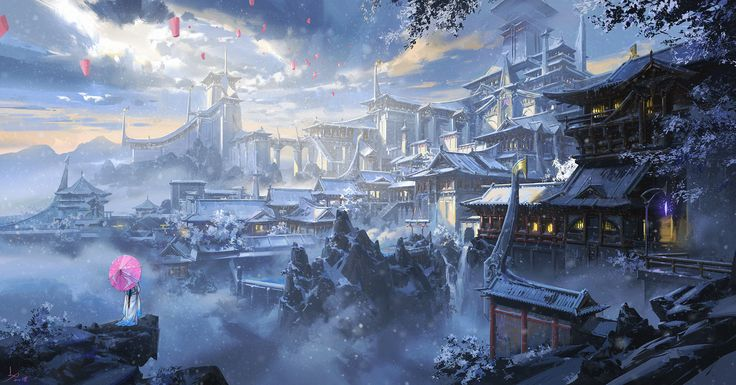 ArtStation - snow and Painting process, ling xiang