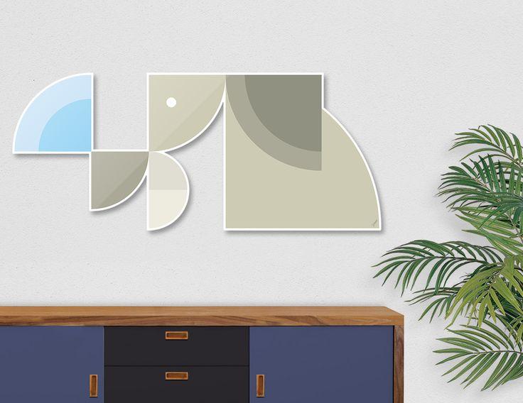 #DieCut #Aluminum #Print of #Geometric #Animals.  #Home #Decor Series by Vaggelis Arabatzoglou!  Available in a variety of #Art #Prints on #Curioos! #2dart #quadrant #geometric #design #homedecor #kidsroom #livingroom #lifestyle #abstract #graphicdesign #vectorart #illustration #contemporary #mammals #elephants #savanna #minimal