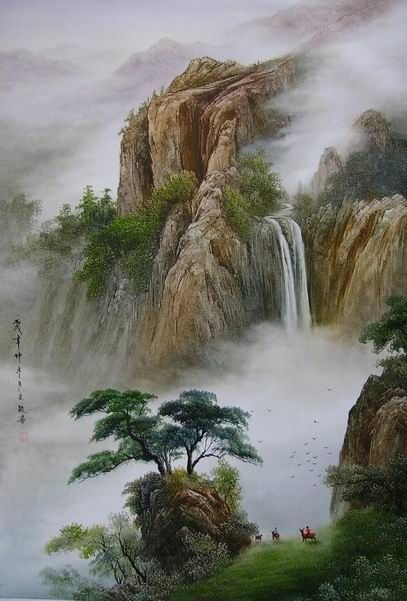Chinese ink paintings, also known as shui-mo hua, are most commonly called ink and wash paintings. In ink and wash paintings, generally black ink is the only ink used. This is the same ink that is used in Chinese Calligraphy.