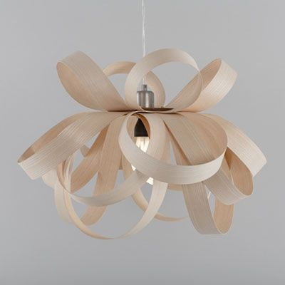 modern chandelier with scandinavian design made from sustainably sourced ash | blue print | blueprintstore.com