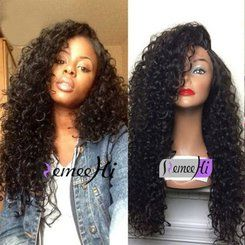 Remeehi Natural Curly Wig High Quailty Indian Remy Human Hair or Brazilian Remy Hair Full Lace Wigs wihth Baby Hair