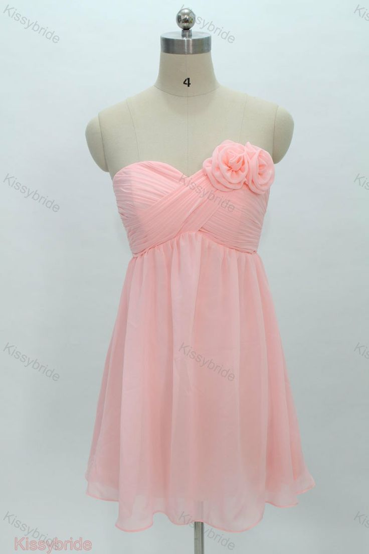 Chiffon bridesmaid dress short bridesmaid dress / by KissyBride, $89.00