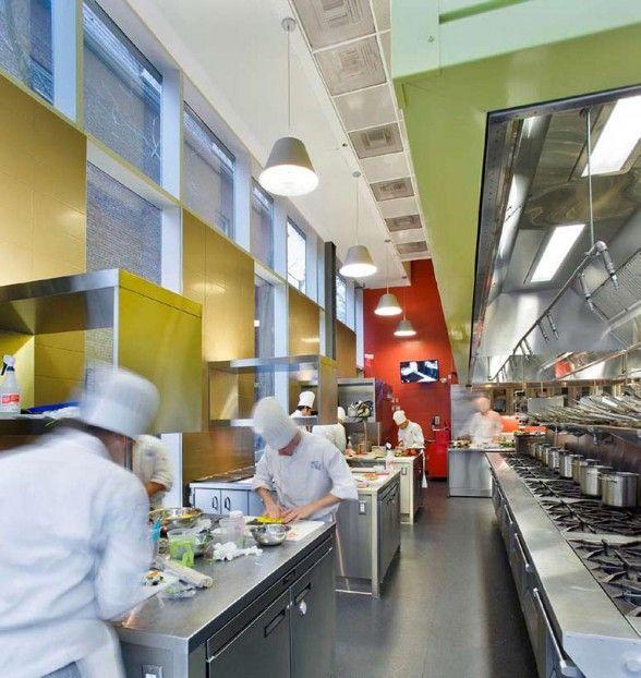 the george brown chef school interior modern kitchen
