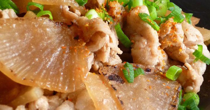 【cook本】【全国スーパー販促】焼き炒めた大根に豚の生姜きのタレが染みて旨々です^^v 大根消費にもピッタリです♪