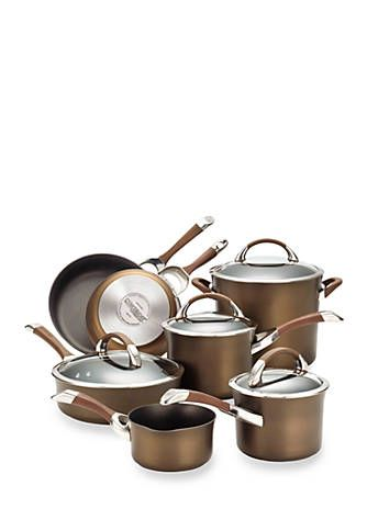 Circulon Symmetry Chocolate Hard Anodized Nonstick 11 Piece Cookware Set In 2018 Decorating Tips Pinterest And Stainless Steel