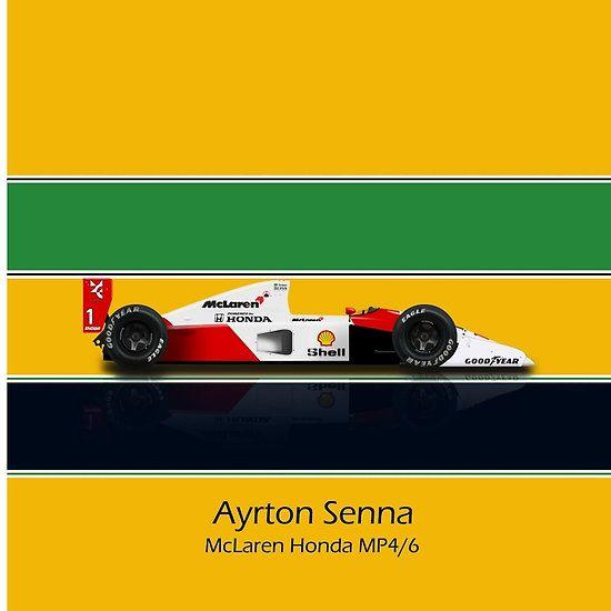 Ayrton Senna - McLaren MP4/6 with Helmet colours