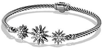 David Yurman Starburst Three-Station Cable Bracelet with Diamonds on shopstyle.com