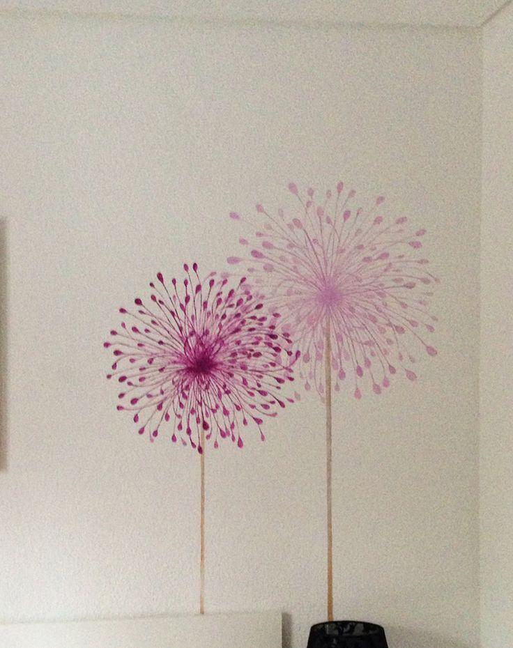 Las 25 mejores ideas sobre dibujo de diente de le n en for Dibujos para decorar paredes