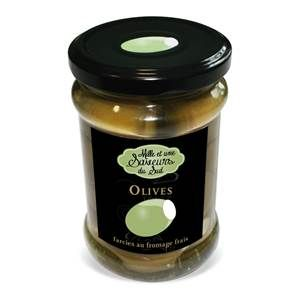 Olives farcies au fromage frais - mille et une saveurs