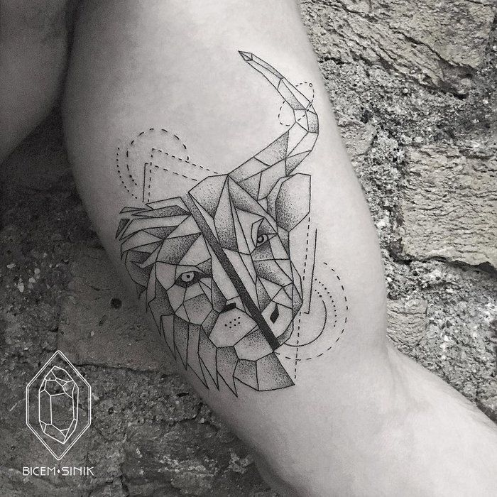 30 Beautiful Scroll Tattoos: 30 Beautiful Geometric Tattoos By Bicem Sinik