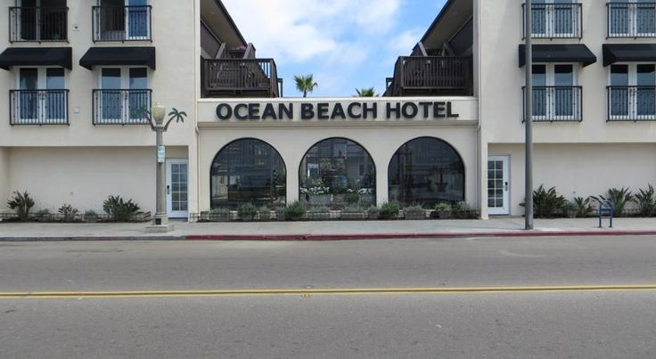 Ocean Beach Hotel San Diego Located directly on Ocean Beach, this San Diego hotel offers 100% non-smoking guest rooms and free Wi-Fi. The hotel is 3.2 km away from SeaWorld San Diego.