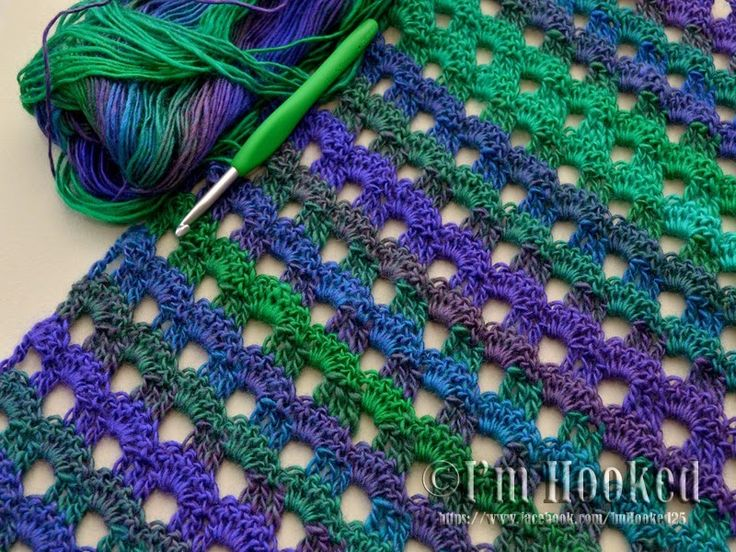 Dew Drop Wrap - love the shell pattern of this crochet ...