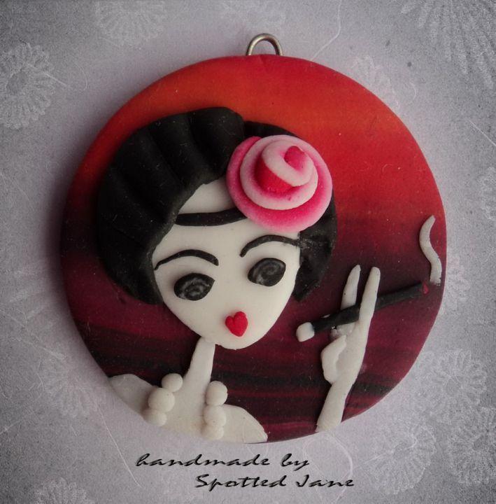 Girlish Pendant by http://www.breslo.hu/SpottedJane/shop