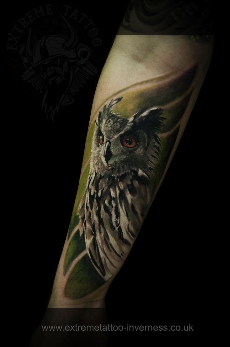 Owl tattoo, Cosmin Raducanu,Extreme tattoo&piercing