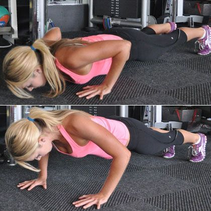 The Best Workout for Back Fat: Pushup Holds - Back Workout: 6 Moves to Blast Annoying Bra Bulge - Shape Magazine - Page 7