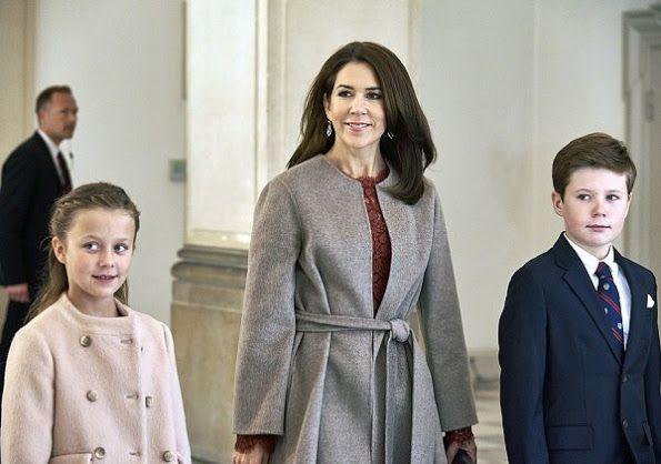 Crown Princess Mary, Prince Christian, Princess Isabella, Prince Joachim, Princess Marie and Princess Benedikte