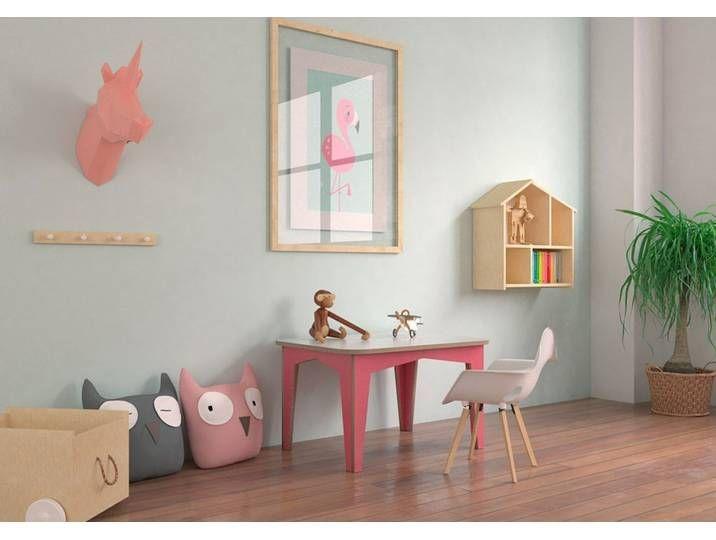 Tisch Kindertisch Kitana 80 X 60 X 47 Cm L X B X H Eco Weiss