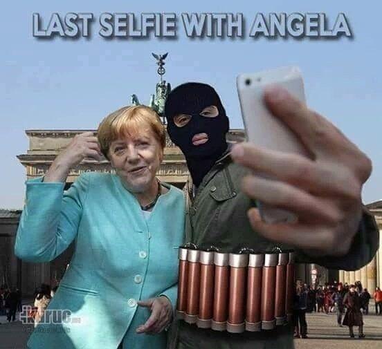 hier das letzte #Selfie von #AnisAmri mit #Merkel