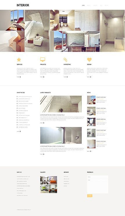 interieur website template website works of art pinterest design wordpress theme and website template